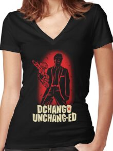 """Off the Chang..."" Women's Fitted V-Neck T-Shirt"