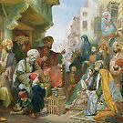 A Street in Cairo by Bridgeman Art Library