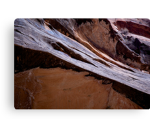 angled rocks Canvas Print