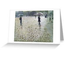 Study for a Paris Street, Rainy Day, 1877 Greeting Card