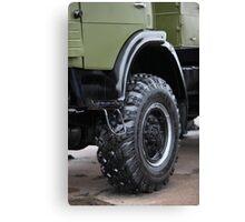 army truck wheel Canvas Print
