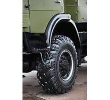 army truck wheel Photographic Print