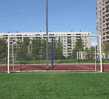 soccer goal by mrivserg