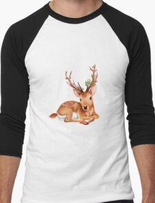 The Mysterious Deer. Men's Baseball ¾ T-Shirt