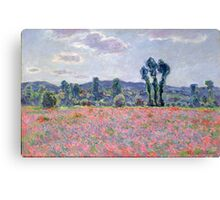 Poppy Field, 1887 Canvas Print