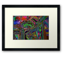 colorized lamps Framed Print