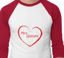 love Mrs. Gilinsky Red Men's Baseball ¾ T-Shirt