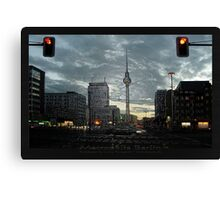 look to the berlin television tower Canvas Print