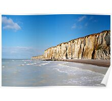 Chalk cliffs Poster