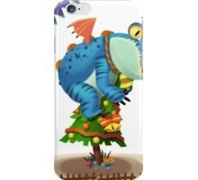 The Sloth Dragon Monster Comes to wish You Merry Christmas iPhone Case/Skin