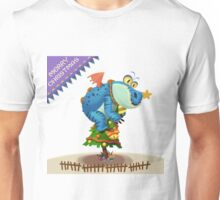 The Sloth Dragon Monster Comes to wish You Merry Christmas Unisex T-Shirt