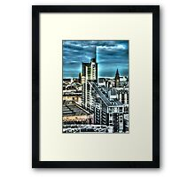 Manchester Buildings HDR Framed Print