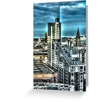 Manchester Buildings HDR Greeting Card