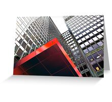 red triangle Greeting Card