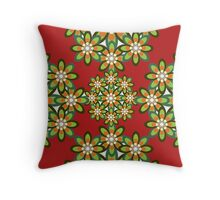 A Flower Pattern Throw Pillow