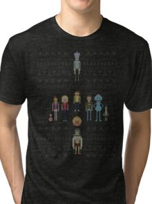 Rick and Morty Family Portrait DARK VERSION! Tri-blend T-Shirt