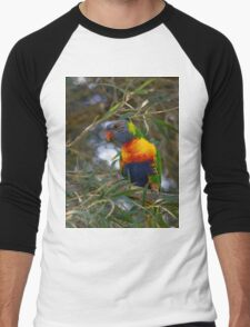 Rainbow Lorikeet Men's Baseball ¾ T-Shirt