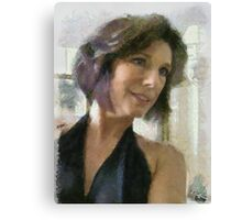 Diane a la Monet Canvas Print