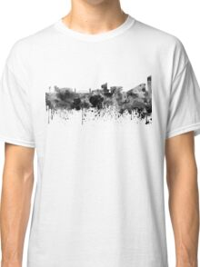 Manchester skyline in black watercolor Classic T-Shirt
