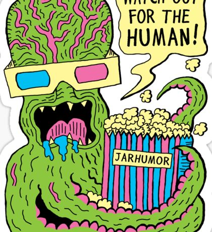Alien Monster Movie Sticker