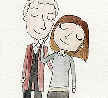 Doctor Who - Twelfth Doctor and Clara Oswald by whatthefoucault