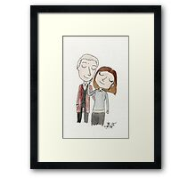 Doctor Who - Twelfth Doctor and Clara Oswald Framed Print