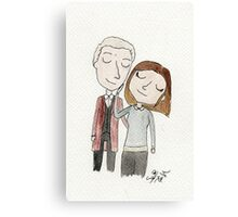 Doctor Who - Twelfth Doctor and Clara Oswald Canvas Print
