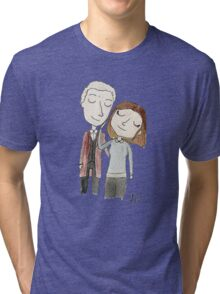 Doctor Who - Twelfth Doctor and Clara Oswald Tri-blend T-Shirt