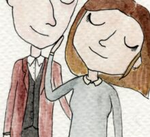 Doctor Who - Twelfth Doctor and Clara Oswald Sticker