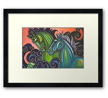 Swimming Horses (Hippocampi) Framed Print
