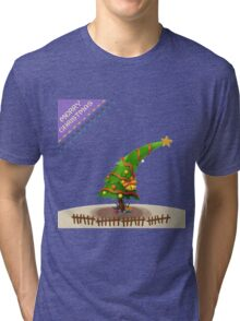 The Christmas Tree wishes You Merry Christmas Tri-blend T-Shirt