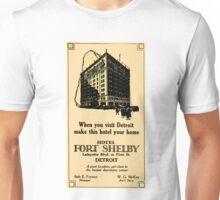 Vintage Detroit Fort Shelby Hotel Ad #2 Unisex T-Shirt