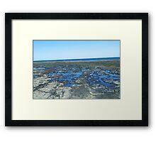rockpools - blue Framed Print