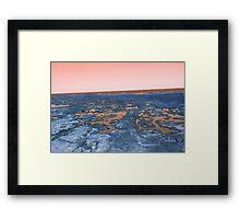 rockpools - orange Framed Print