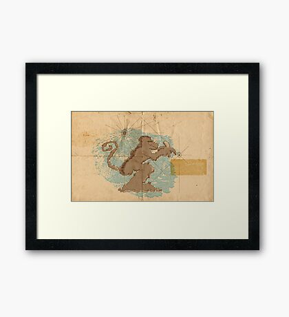 Monkey Island Framed Print