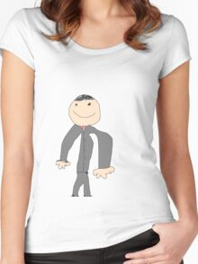 HERE LOOK AT A SHIRT Women's Fitted Scoop T-Shirt