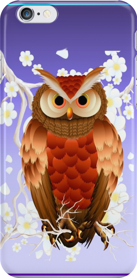 Bright Brown Owl-White Blooms by Lotacats