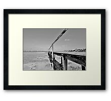 The Old Pier at Montagu Beach in Nassau, The Bahamas Framed Print