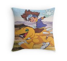 Digimon swagger bag Throw Pillow