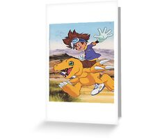 Digimon swagger bag Greeting Card