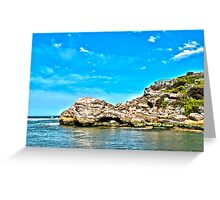 The Blue Hole HDR Greeting Card