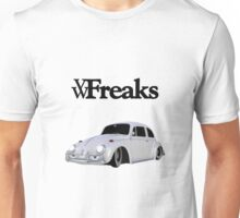 Das VW-Freaks White Beetle (No BG) Unisex T-Shirt