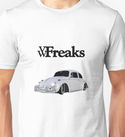 Das VW-Freaks White Beetle (No BG) Unisex T-Shirt