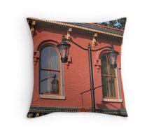 Midway Building Throw Pillow