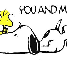 Snoopy Woodstock Love by gleviosah