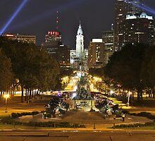 Philadelphia at night by Danail Tanev