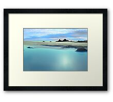 Continents Edge Framed Print
