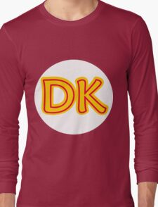 He's the leader of the bunch. He's DK! Donkey Kong! Long Sleeve T-Shirt