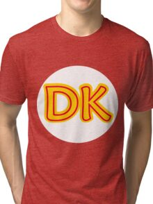 He's the leader of the bunch. He's DK! Donkey Kong! Tri-blend T-Shirt