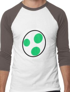 A bottomless pit of a stomach, green, a dinosaur, you guessed it, YOSHI! Men's Baseball ¾ T-Shirt